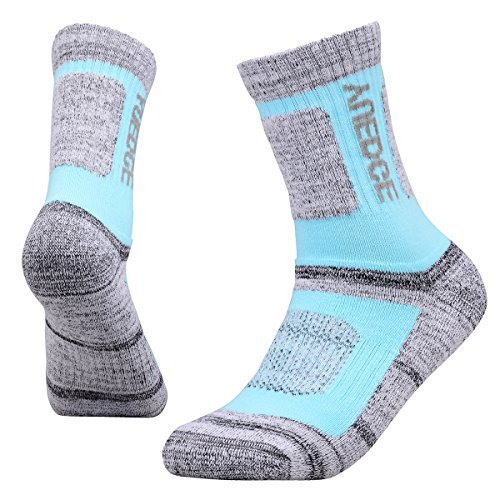 YUEDGE Women's 5 Pairs Wicking Cushion Anti Blister Outdoor Crew Socks for Hiking Walking Running Climbing Backpacking Skiing Year Round(L) by YUEDGE (Image #4)