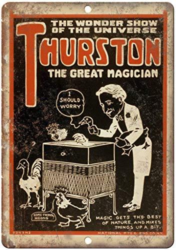 (JORDAN ARCHER Thurston The Great Magician Metal Tin Poster Garage Club Bar Wall Art Decoration)