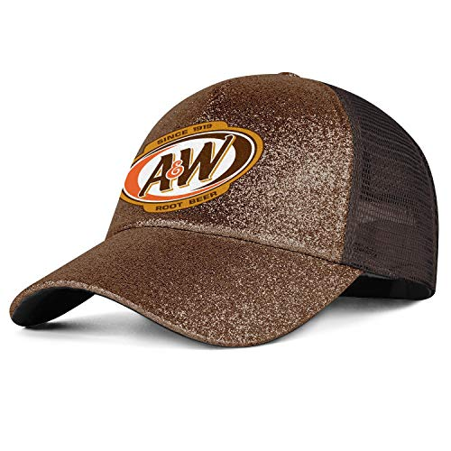 (jdadaw A&W-Root-Beer-Logo- Woman Man Baseball Caps Trucker Hats Vintage Snapbacks Maroon)