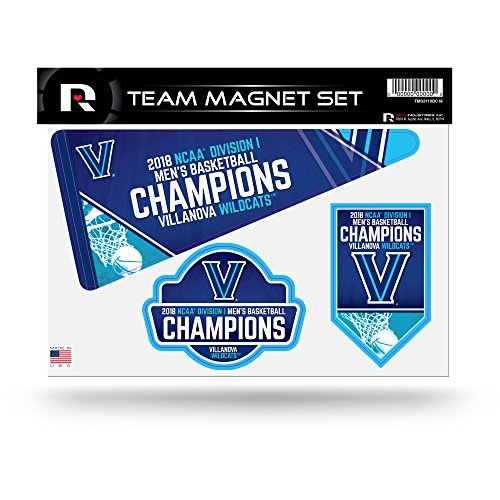 NCAA Villanova Wildcats 2018 Men's National Basketball Champions Die Cut Team Magnet Set (Frame Ncaa Mens Basketball)