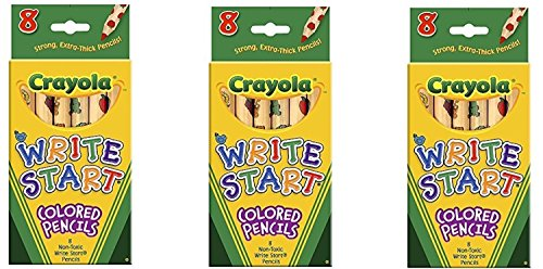 Bulk Buy: Crayola Write Start Colored Pencils 8/Pkg 68-4108 (0.14 Ounce Pencil)