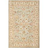 Safavieh Antiquities Collection AT822A Handmade Traditional Oriental Grey Blue and Beige Wool Area Rug (9' x 12')