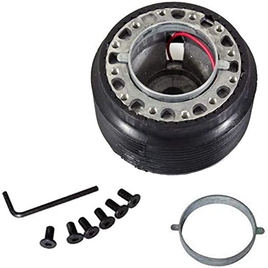 NO LOGO FXF-LGSP Black Steering Wheel Quick Release Short Hub Adapter Fit For RENAULT CLIO MK2 1998-2005