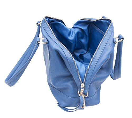 Prime Hide, Borsetta da polso donna blu Blue 38 x 26 x 10 cm