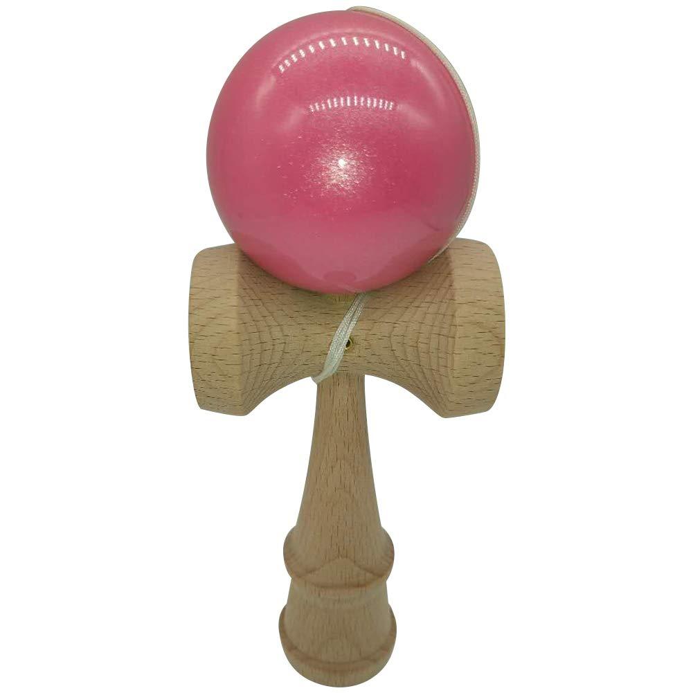 Pearlescent Paint Kendama Classic Kendamas Natural Beech Wood Toy Pink