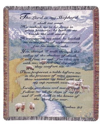 OKSLO Simply Home 23Rd Psalm Gift To Remember Throw (GTR-0470) ()