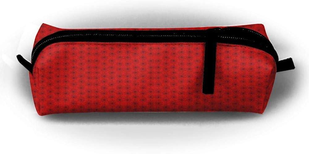 Ox - Estuche para lápices con diseño de margaritas sobre fondo de pantalla rojo: Amazon.es: Oficina y papelería