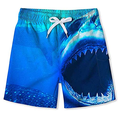 Enlifety Baby Boys Line Up Beach Swim Trunk Casual Short Pant Sports Running Swiming Surf Board Shorts 6-8 Years - Lines Boy Short