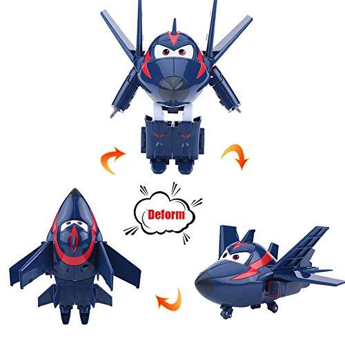 飛行機 おもちゃ アニメーション キャラクター ロボット Super Wings変身・変形 かわいい 飛行機 キッド 玩具 トイズ プラスチック製 12CM 4タイプ(タイプ1)