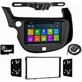 Otto Navi DVD GPS Navigation Multimedia Radio and Dash Kit for Honda Fit 2009-2013 with Back up camera and extra