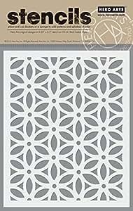 Hero Arts SA076 Floral Pattern Stencil Art and Craft Product