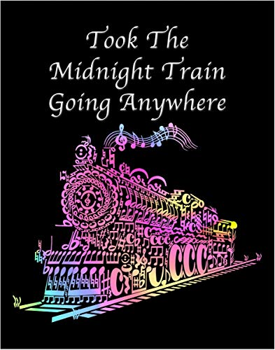 d9e4c7b5e5cdb Inspired By a Journey Song- Midnight Train Going Anywhere- 11x14 Unframed  Art Print- Gift for Music Lovers or Train Lovers- Great in a Dorm, Bedroom  ...