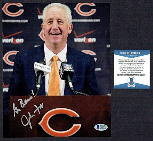 - John Fox signed autograph auto 8x10 photo Chicago Bears Head Coach BAS Cert