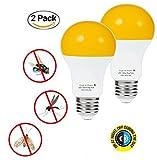 Dusk Till Dawn Bug Light Bulbs LED Bug Light Bulbs Outdoor with Auto On/Off Light Bulb LED 2 Pack from BrightWize