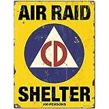 Air Raid Shelter Civil Defense Game Room Sign 12 x 16