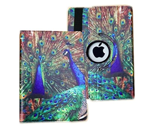 iPad Case Cover Rotating Stand with Wake Up / Sleep Function For Apple ipad 2nd 3rd 4th Generation Model A1395 A1396 A1397 A1416 A1430 A1403 A1458 A1460 or A1459 peacock Designs case