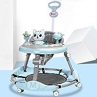 Baby Walker 6-Speed Adjustment Multi-Function Anti-Rollover Anti-O-Legs Men and Women Toddler Walker Range 7-18 Months…