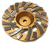 TheSafetyHouse 7'' Diamond Cup Wheel, Gold Fan Wheel 5/8'' - 11mm Threaded