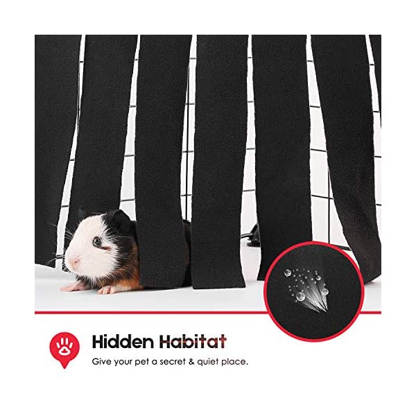 DIDIPET Guinea Pig Hideaway Corner Fleece Forest Hideout for Ferrets Chinchillas Hedgehogs Dwarf Rabbits and Other Small Pets - Accessories and Toys 3