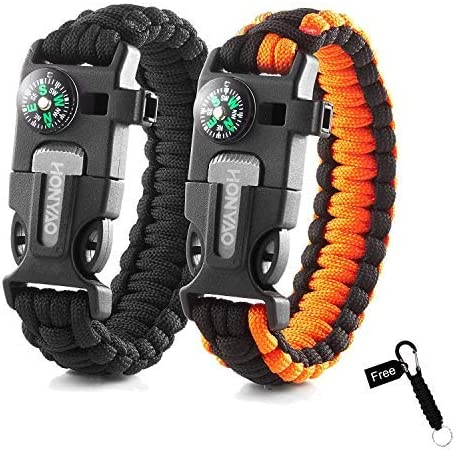 Outdoor Camping Emergency Tactical Survival Paracord Rope Bracelet Wristband UK