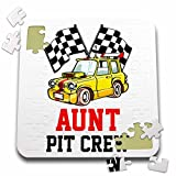 Carsten Reisinger - Illustrations - Pit Crew Aunt Funny Car Race Theme Birthday Party Host - 10x10 Inch Puzzle (pzl_275705_2)