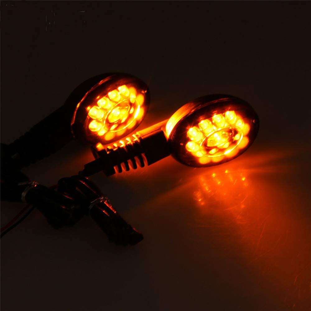 Easygo Replacement For Ninja 250R EX250 2008 2009 2010 2011 2012 Front//Rear Turn Signal Indicators Light Amber Blinkers Smoke