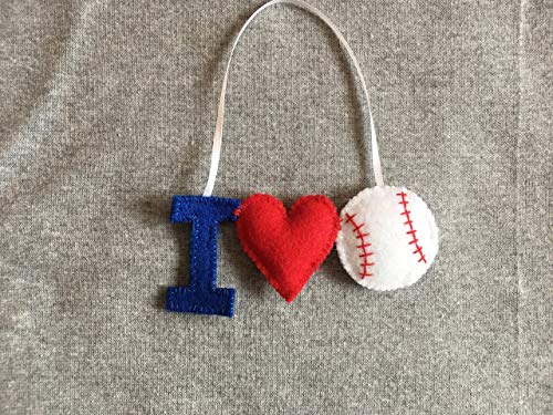 I Love Baseball Christmas Ornament -