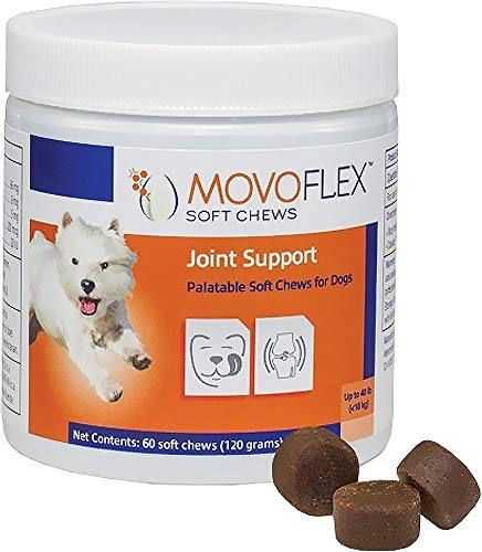 Bones Virbac - MOVOFLEX Joint Support Virbac Soft Chew Dog Supplement Small Dogs, Up to 40 lbs, 60 Count
