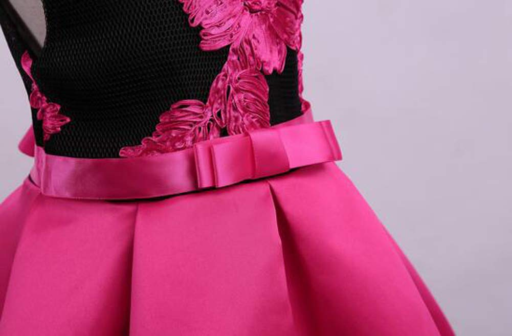 Tueenhuge Little Girls Sleeveless Flower Ruffles Lace Party Wedding Bridesmaid Dress by Tueenhuge (Image #4)