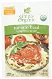 Simply Organic Tomato Basil Spaghetti Sauce Certified Organic, 1.31-Ounce Packets (Pack of 12)