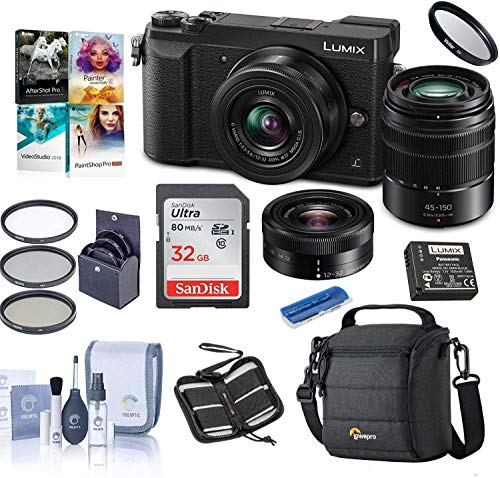 Panasonic Panasonic Lumix DMC-GX85 Mirrorless Camera with 12-32 & 45-150mm Lenses and Free Accessories Kit