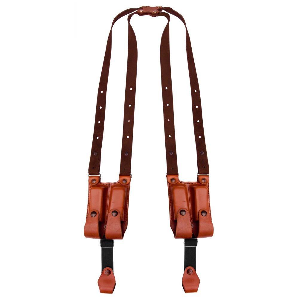 Tagua SH4D-202 Full Slide Shoulder Holster, 1911 5'' Double Shoulder Holster, Brown Ambidextrous