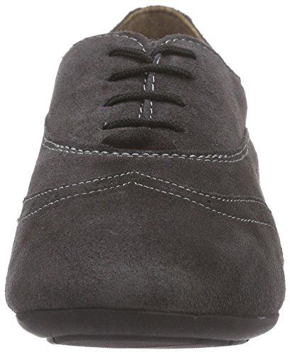 Scholl cuero Grau oxford gris mujer zapato de dk MAYMA grey xRanZTx