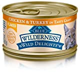Cheap Blue Buffalo Wild Delights Flaked Chicken and Turkey Wet Cat Food, 3 oz Can, Pack of 24 by BLUE WILDERNESS