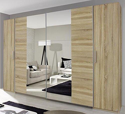 Dreh-/Schwebetürenschrank weiß 4-trg B 312 cm Jugend Schlafzimmer ...