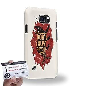 Case88 [Samsung Galaxy S6 Active] 3D impresa Carcasa/Funda dura para & Tarjeta de garantía - Art Life Signals Don't Trust Anyone