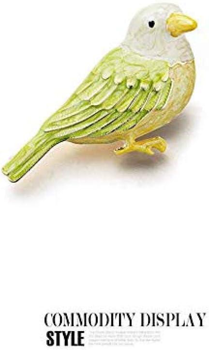 Brooch Cute Glazed Bird Brooch Anti-Light Silk Scarf Buckle Coat Western Ornament Badge Gift-2