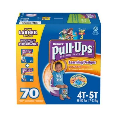 Huggies Pull-Ups Learning Designs Training Pants, Boy, Size 4T-5T, 70 Count