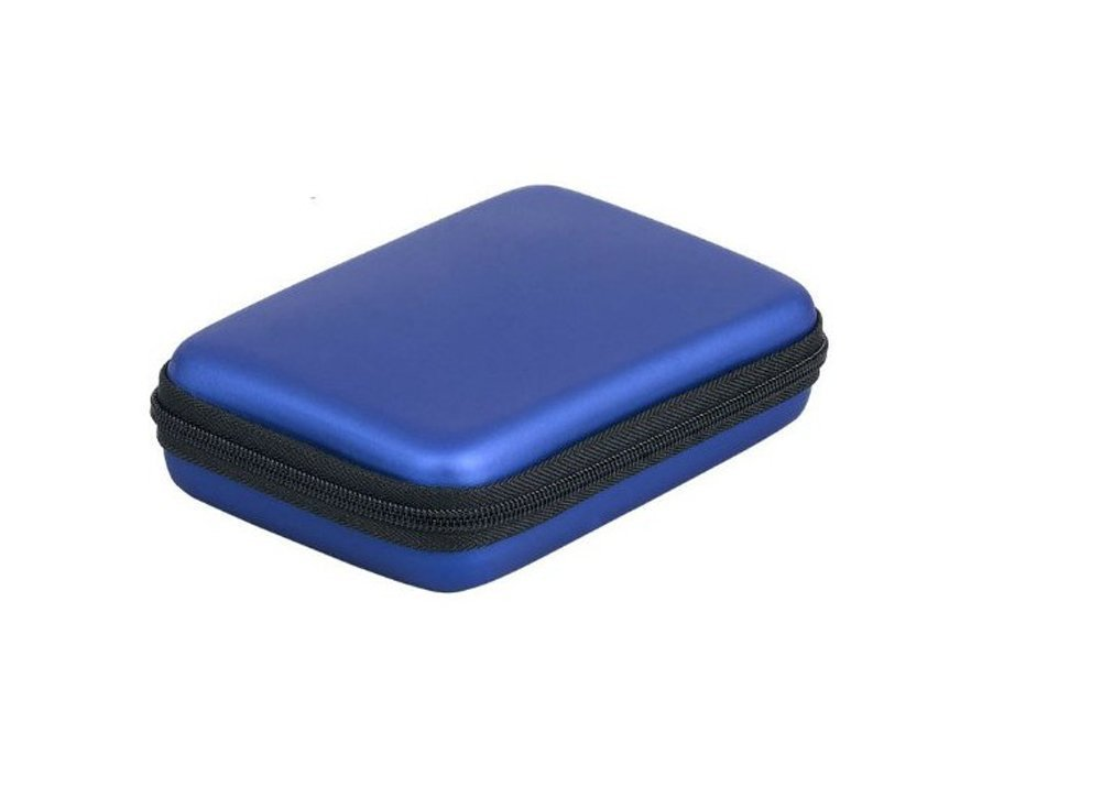 "LANYUER Portable Hard Disk Drive Shockproof Zipper Cover Bag Case 2.5"" HDD Bag Hardcase Blue"