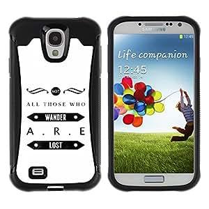 LASTONE PHONE CASE / Suave Silicona Caso Carcasa de Caucho Funda para Samsung Galaxy S4 I9500 / Design Art Deco Message Minimalist White