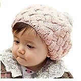 niceEshop(TM) Baby Infant Knit Beanie Crochet Rib Pom Pom Warm Hat Cap , Pink