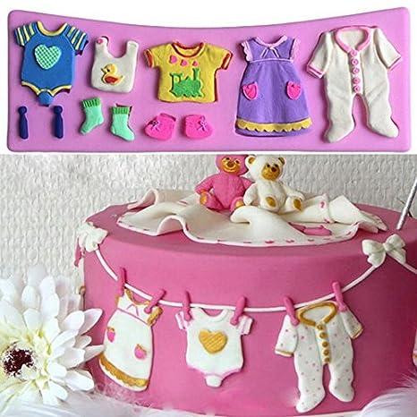 Molde silicona 3D para reposteria baby shower vestido bebes tartas y postres en bautizos, cumpleaños, fiestas .reutilizable: Amazon.es: Hogar