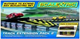 Scalextric C8511 Track Extension Pack - 1x Leap (Ramp Up and Ramp Down) 2 Straight 2 Side Swipes Borders Barriers