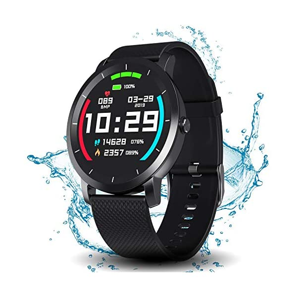Smart Watch with Connected GPS, IP68 Waterproof Digital Smart Fitness Watches for...