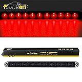 "Partsam 15"" Smoke/Red 11 LED Waterproof Car Trailer Truck Stop Turn Tail Brake Light Bar Identification Light"