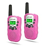 3-8 Year Old Girl Toys, WIKI Long Range Walkie Talkies for Kids Toys for 9-12 Year Old Girls 2018 Christmas Gifts for 3-12 Year Old Girls Gifts for Teen Boys Pink WKUSDJJ06