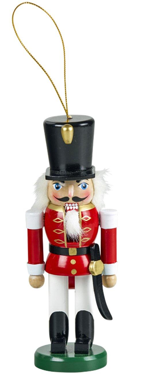 yanka-style - Schiaccianoci a Forma di Soldato 15 cm di Altezza in Legno colorato con Filo per Appendere Natale, avvento, Decorazione Regalo (92030 – 15S) Decorazione Regalo (92030 - 15S) Schulte