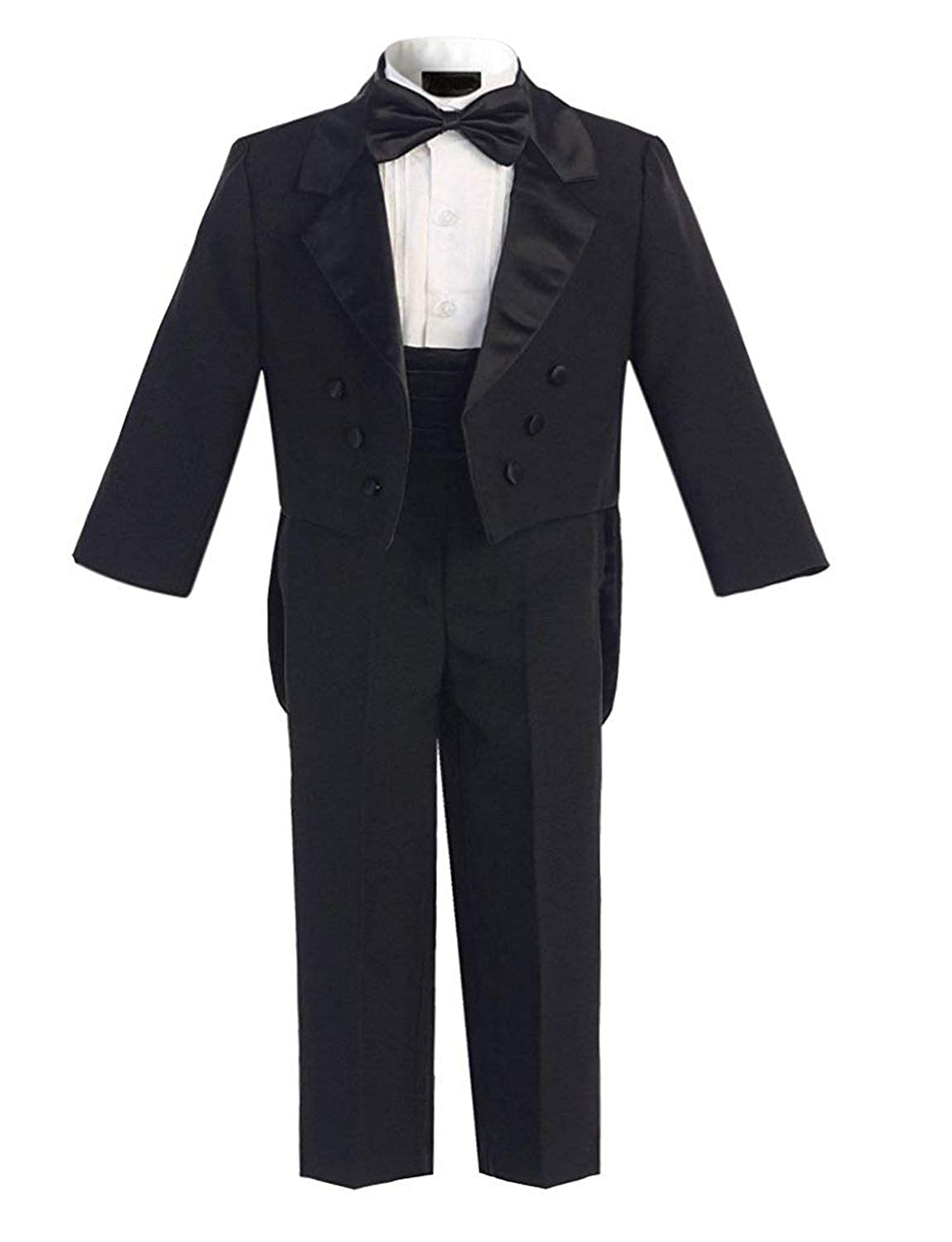 DGMJ Wedding Suits for Boys Slim Fit Tuxedo Suit with Tails Formal Outfit for Christmas HTXZ009