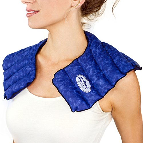 MyCare Heating Pad - Shoulder Wrap for Neck Pain and Shoulder Pain Relief Soothing Aches and Soreness (Blue)