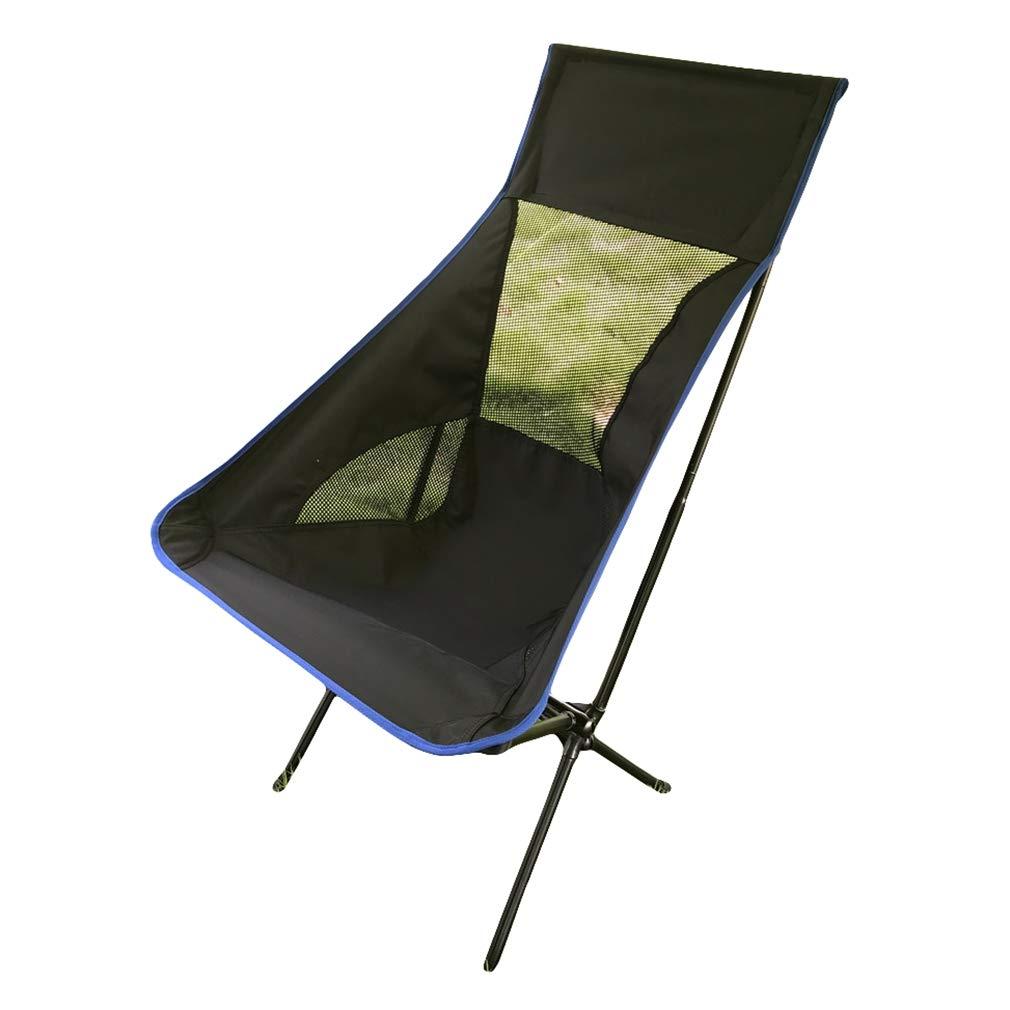 Bleu Taille extensible 413897cm YiyiLai Chaise de Pêche Pliante en Alliage d'Aluminium Tissu Oxford Camping Pique-Nique